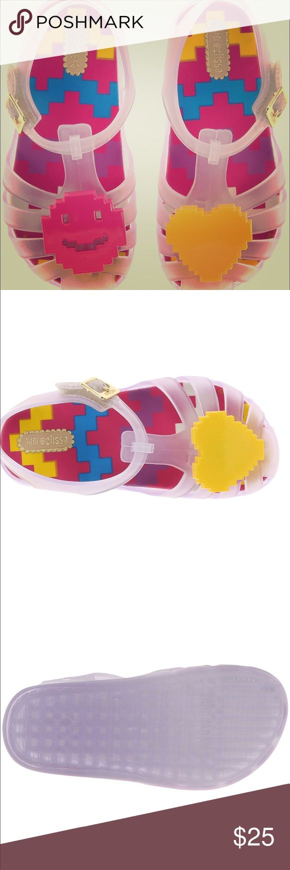Mini Melissa sandals! Adorable sandals worn once! These are so stylish! Comes with mini Melissa box and dust bag. Size 7 Mini Melissa Shoes Sandals & Flip Flops