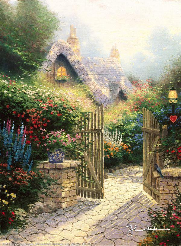 Hidden Cottage II by Thomas Kinkade