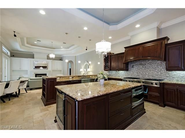 1680 Oakes, Naples, FL 34119 | Gourmet Kitchen With Huge Center Island Andu2026