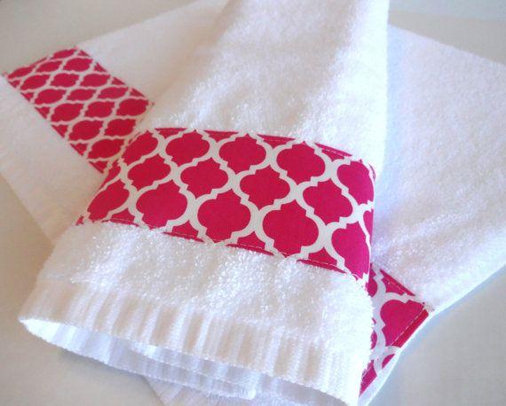 Great Hot Pink Towels Hot Pink Quatrefoil Quatrefoil Fabric By AugustAve
