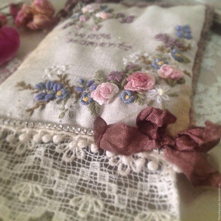 Бразильская вышивка лаванда