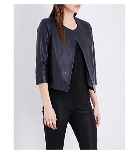 TED BAKER Open-Front Leather Jacket. #tedbaker #cloth #coats & jackets