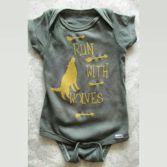 Hey, I found this really awesome Etsy listing at https://www.etsy.com/listing/213982428/wolf-onesie-run-with-wolves-unique-baby