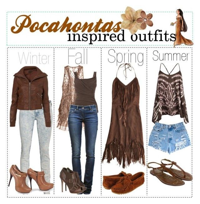 """""""Pocahontas inspired fashion"""" by shannonstyles ❤ liked on Polyvore"""