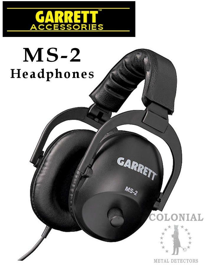 Garrett MS-2 Headphones - Colonial Metal Detectors