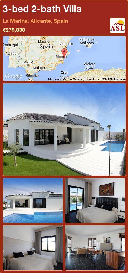 3-bed 2-bath Villa in La Marina, Alicante, Spain ►€279,830 #PropertyForSaleInSpain