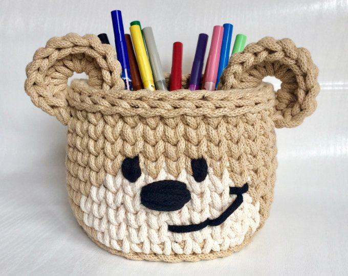 Crochet basket - Bear