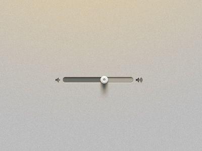Minimalistic, audio, volume, slider, UI, Interface