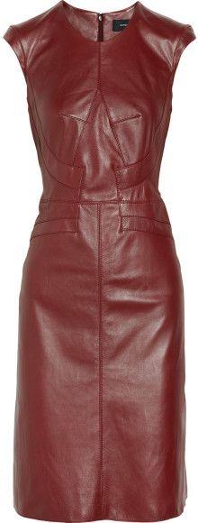 Derek Lam Leather Dress - Lyst