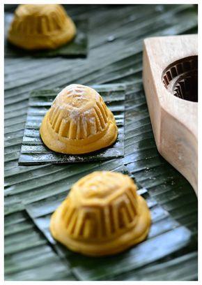 Indonesian Medan Food: Kue Ku / Kue Thok Labu Kuning/ Pumpkin Angku Kueh