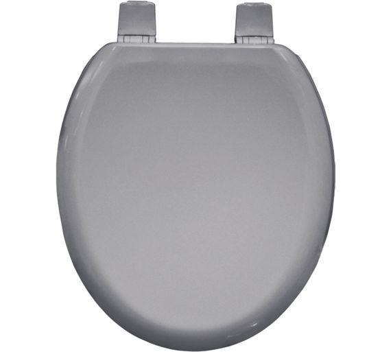 buy bemis chicago moulded wood toilet seat whisper grey at argoscouk