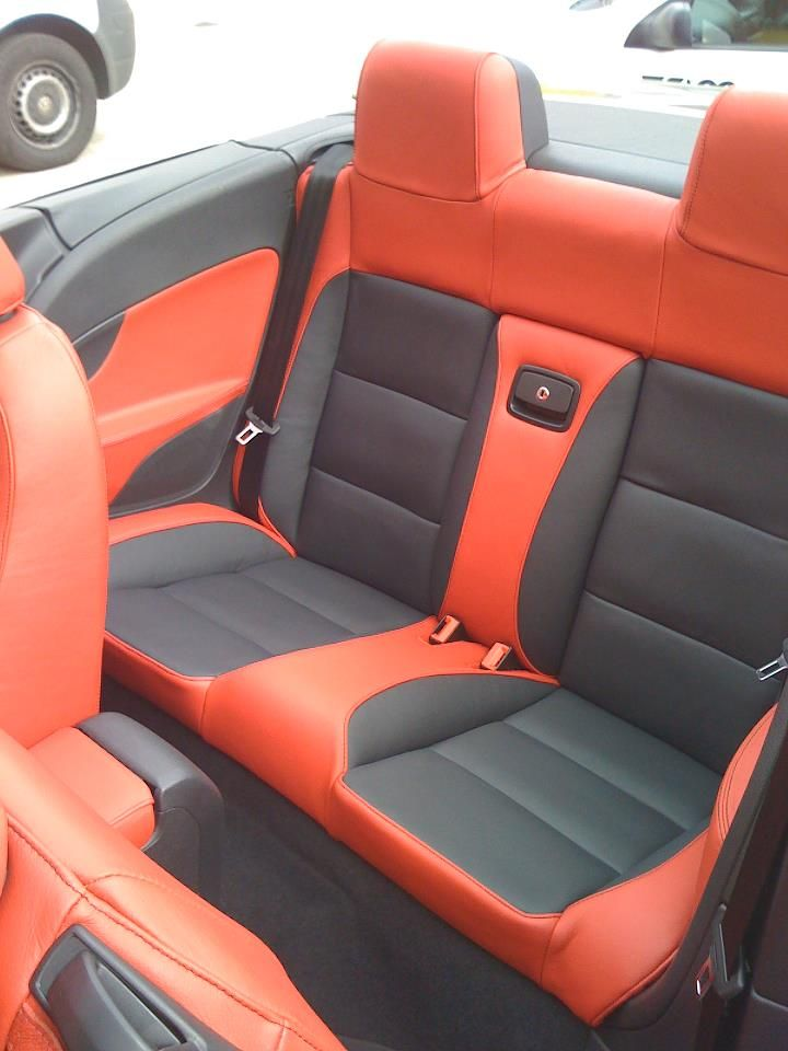 vw custom car auto interior red and black two tone back rear seat auto addiction interiors. Black Bedroom Furniture Sets. Home Design Ideas