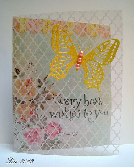 Awesome Card Making Ideas Using Acetate Part - 11: Acetate With HA Lattice Stamp · Tattered Lace CardsAcetate ...
