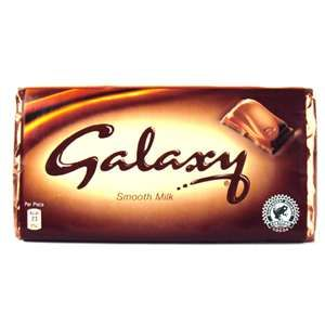 Galaxy also uses colour to there advantage using the colour brown which psycologicaly relates to security and material wealth, this is to relax the consumer.  The colour brown is also used in both dairy milk (in the cadbury logo) and in the Mars red and brownish gold Typograph.