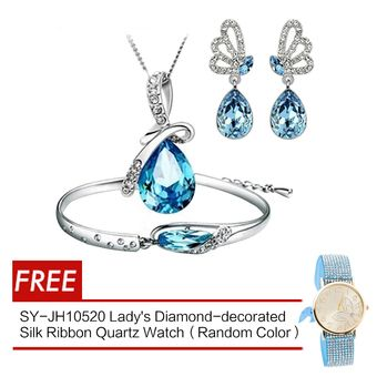 Buy D&D Tears of the Angel Jewellery Sets (Blue) with SY-JH10520 Silk Ribbon Quartz Watch (Random Color) online at Lazada. Discount prices and promotional sale on all. Free Shipping.