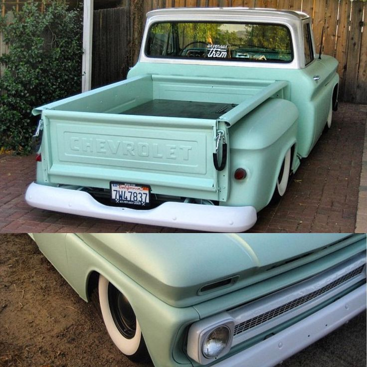 """""""@mustache_wolf  Found some pics of my old 66' Chevy!!! Def. was a fun truck #bagged #usversusthem"""""""