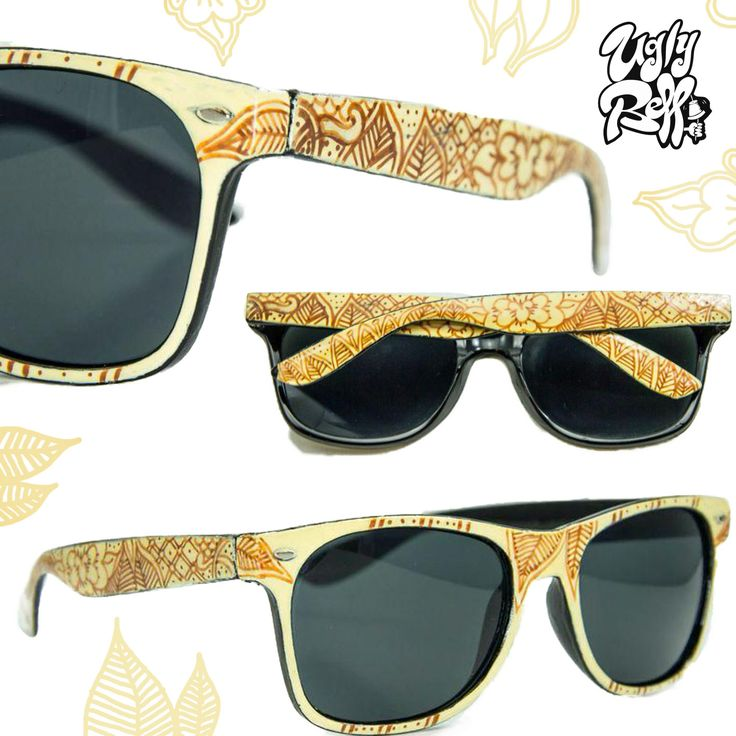 """""""Palm Tree Pattern"""" Sunglasses all sides painted. Custom painted by hand with great attention to detail  using high quality paints. You dont have to worry about the colour protection because  we seal it with extra strong varnish.  Optical lenses can be put in the frame. Let Summer Begin!"""