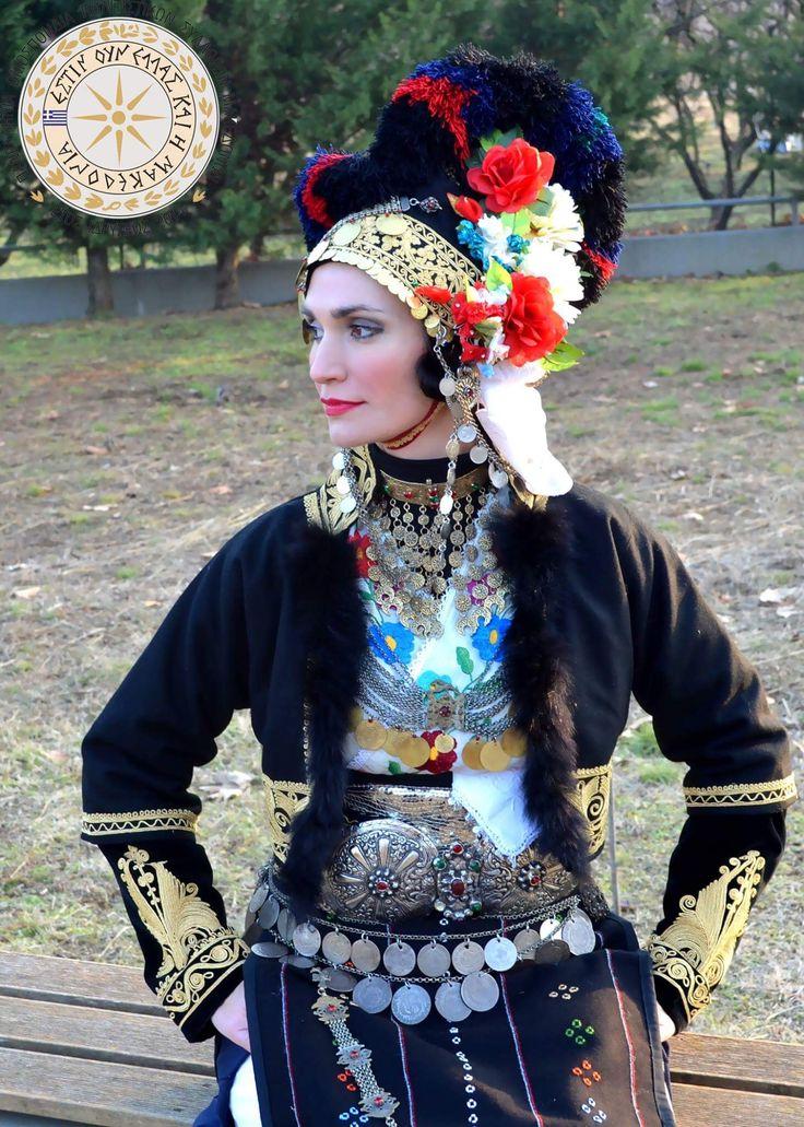 Πανελληνια ομοσπονδία πολιτιστικών συλλόγων Μακεδόνων.Φορεσια Ρομλουκιου(Γιδάς)Απο την Ολγα Σβωλου