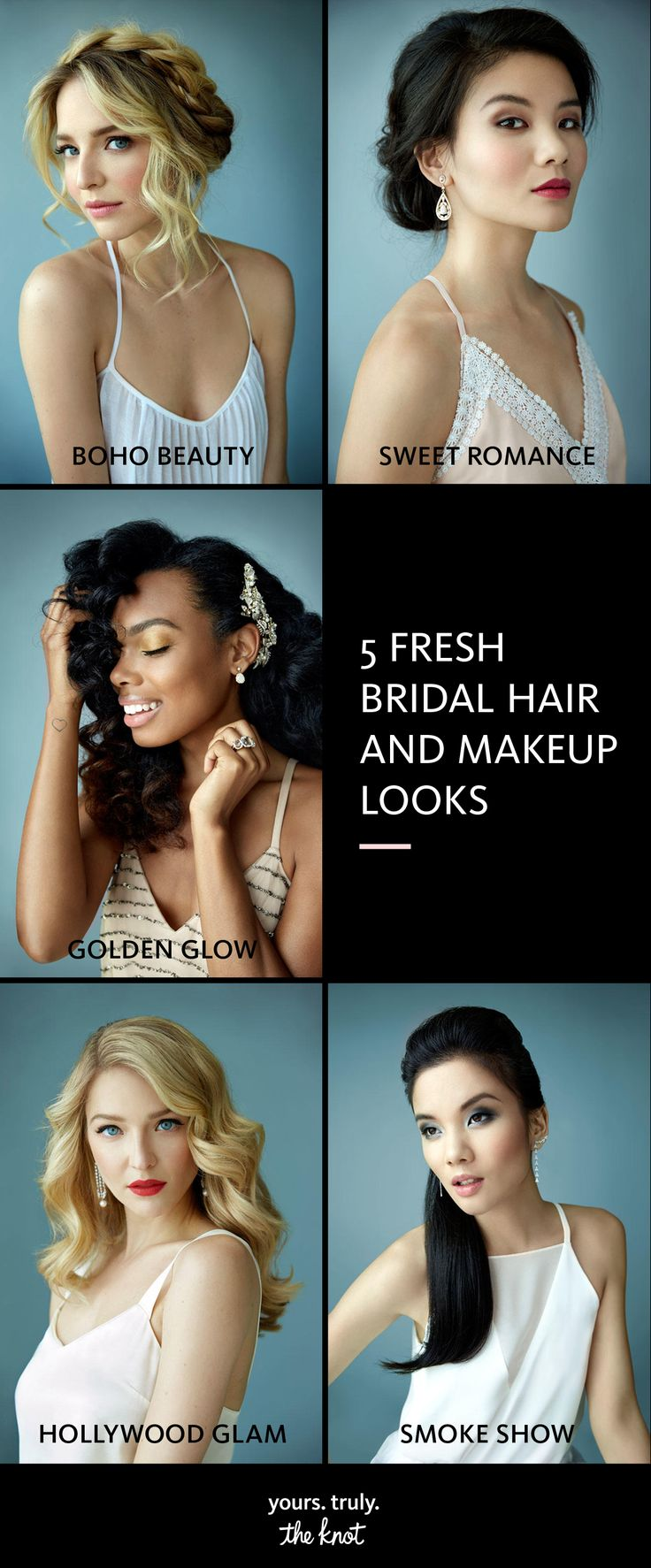 Less is more! We have 5 fresh bridal hair and makeup trends that are simply beautiful.