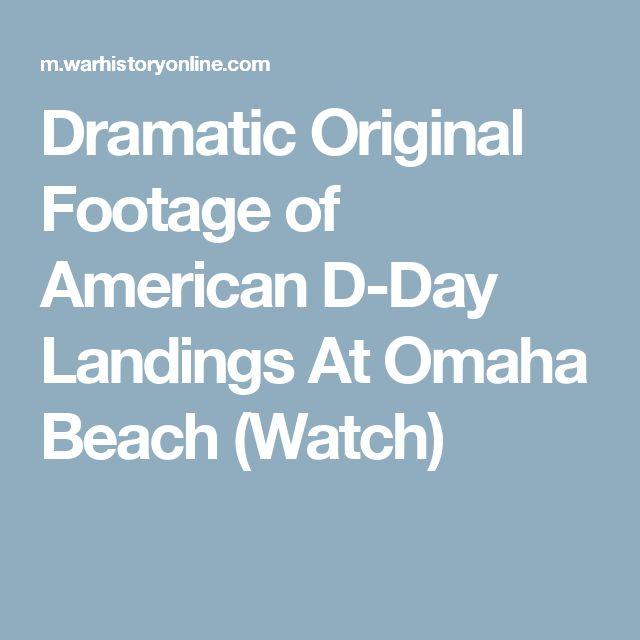 d day omaha beach footage