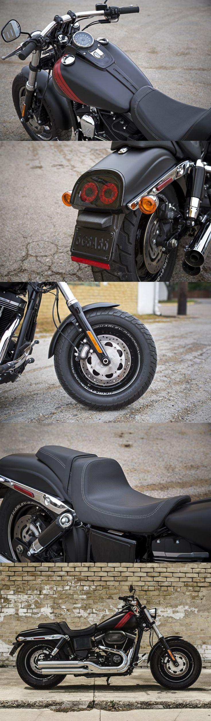 It's big, it's bold and it knows how to make an entrance. | 2016 Harley-Davidson #DarkCustom Fat Bob