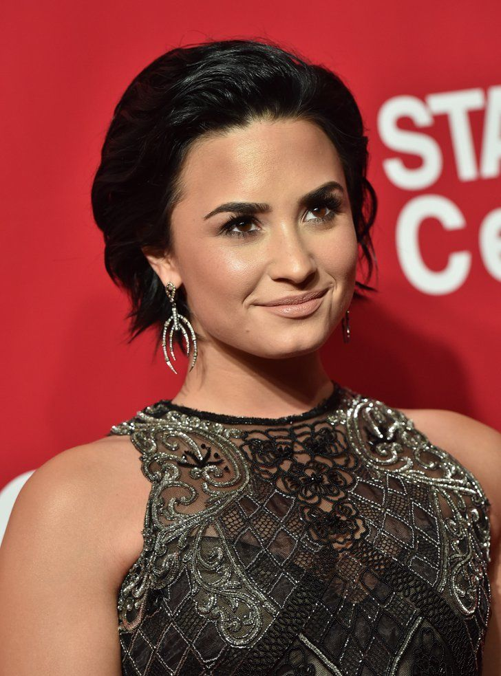 Pin for Later: Every Hair Color and Cut Demi Lovato Has Ever Had A Slicked-Back Bob and Carbon Black By 2016, it seems like Demi has settled on a short black hairstyle for what we're calling her confident period.