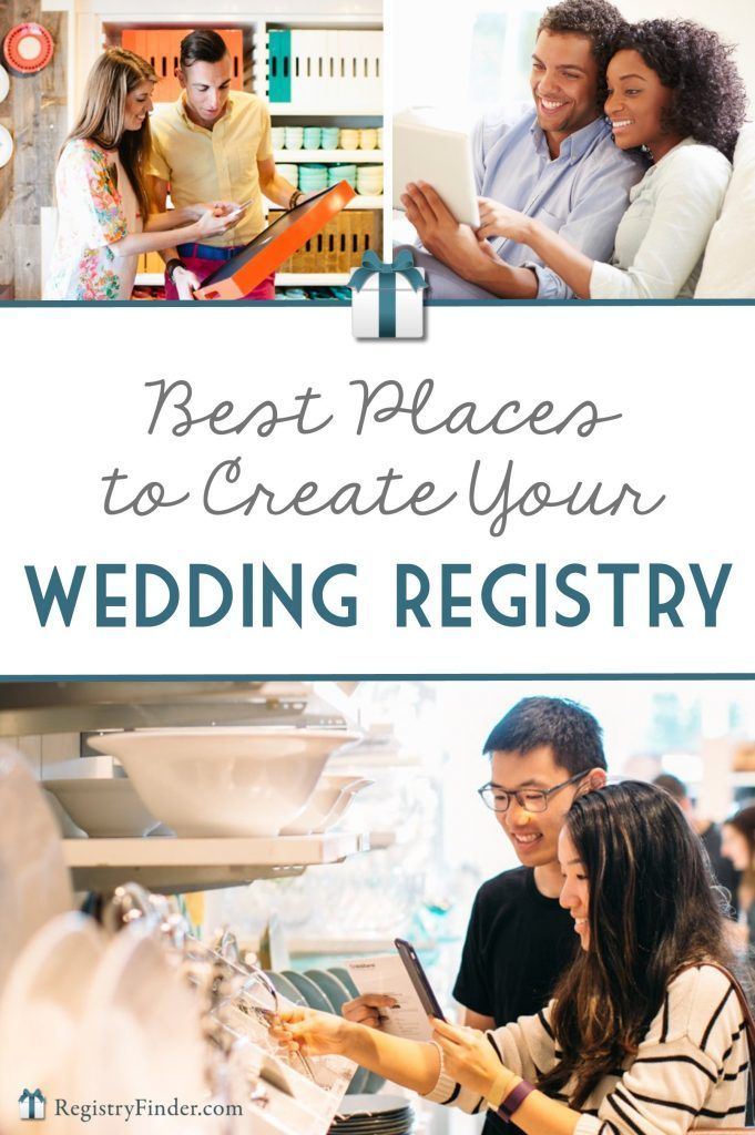 The Best Places To Create Your Wedding Gift Registry Wedding