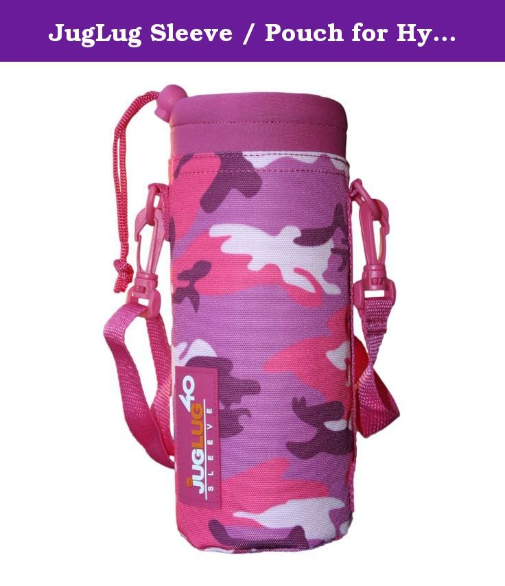 JugLug Sleeve / Pouch for Hydro Flask 40 oz. Bottles - Pink Camouflage (Camo). JugLug Sleeve / Pouch that works with Hydro Flask 40 oz. Bottles. It may also be compatible with bottles of similar dimensions. It includes a shoulder strap as well a side handle for easy carrying options. ___________________________________________________ JugLug, LLC is not affiliated with Hydro Flask or any other flask/bottle manufacturer. JugLug products are intended for use with multiple bottle…