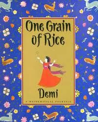 Great picture book to teach concepts of place value, doubling, and multiplication. Teach Beside Me: One Grain of Rice- Math Activities