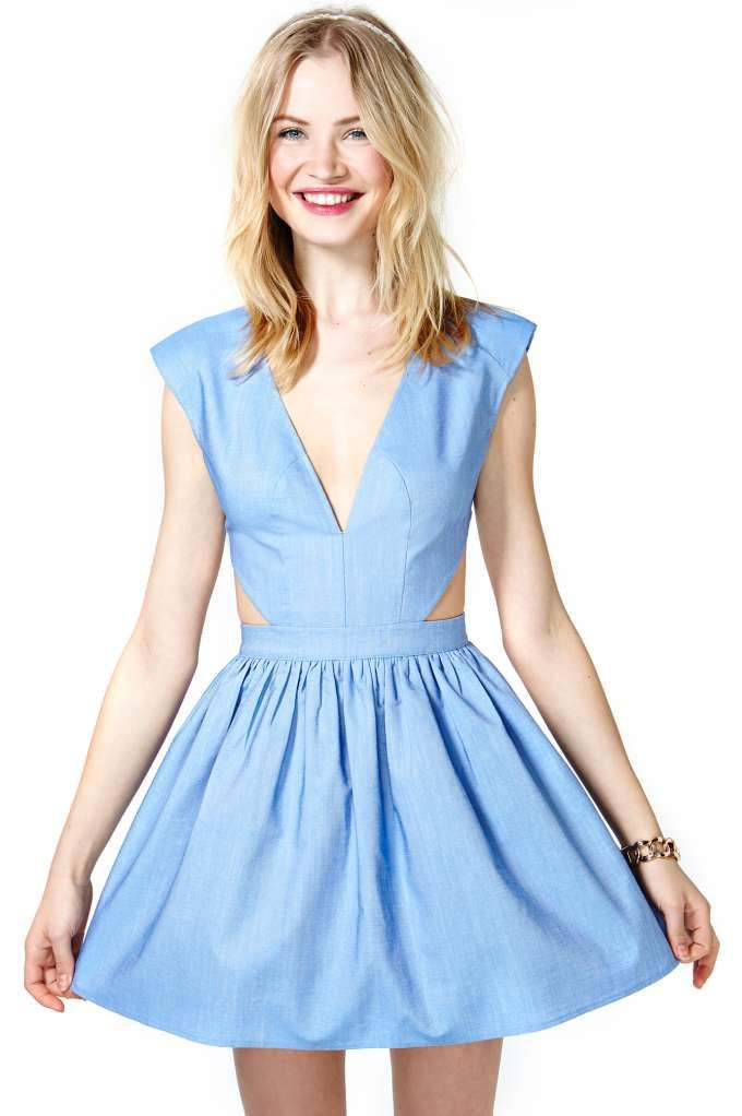 School's Out Dress - Chambray