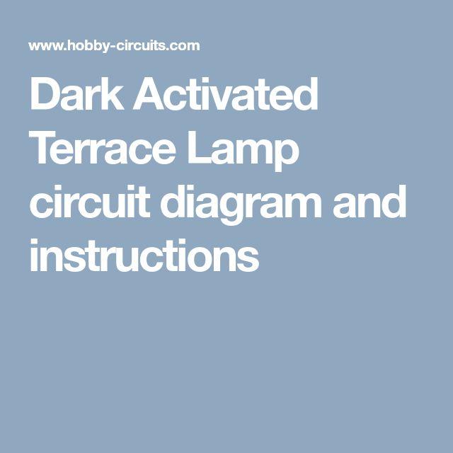 dark activated terrace lamp