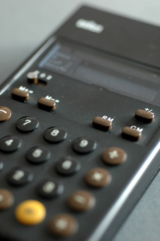 A Braun ET 22 Control Pocket Calculator Designed By Dieter Rams And  Dietrich Lubs In