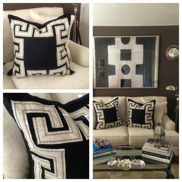 Greek Key Pillows | Paloma Contreras Design