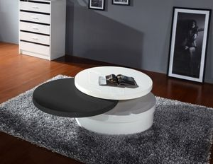 Wonderful Modern Round Black / White Coffee Table By Best Quality CT63 $201