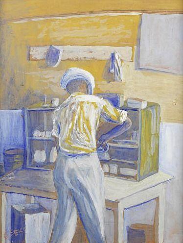 Gerard Sekoto In the Kitchen