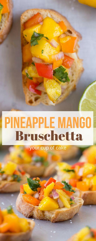 Ananas-Mango-Bruschetta! Dies ist der beste Sommer Bruschetta und ich werde mak …