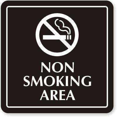 no smoking area-