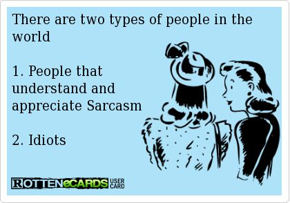 Truth! 2 types of people.