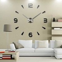 Wish | new wall clock reloj de pared quartz watch living room large decorative clocks modern horloge murale still life stickers