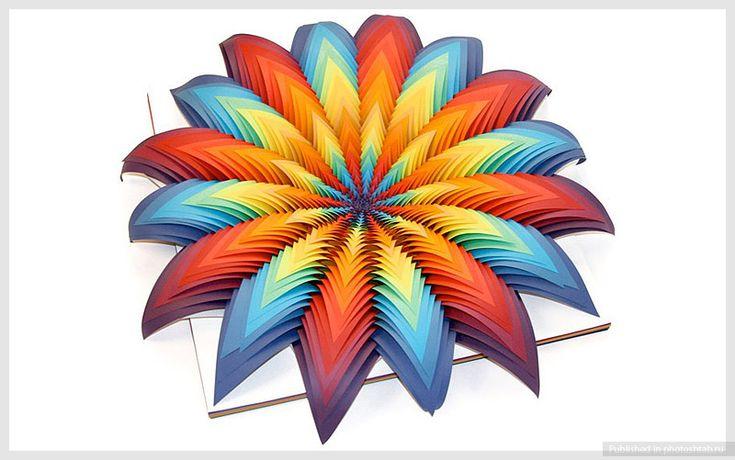 Яркие скульптуры из цветной бумаги. Джен Старк
