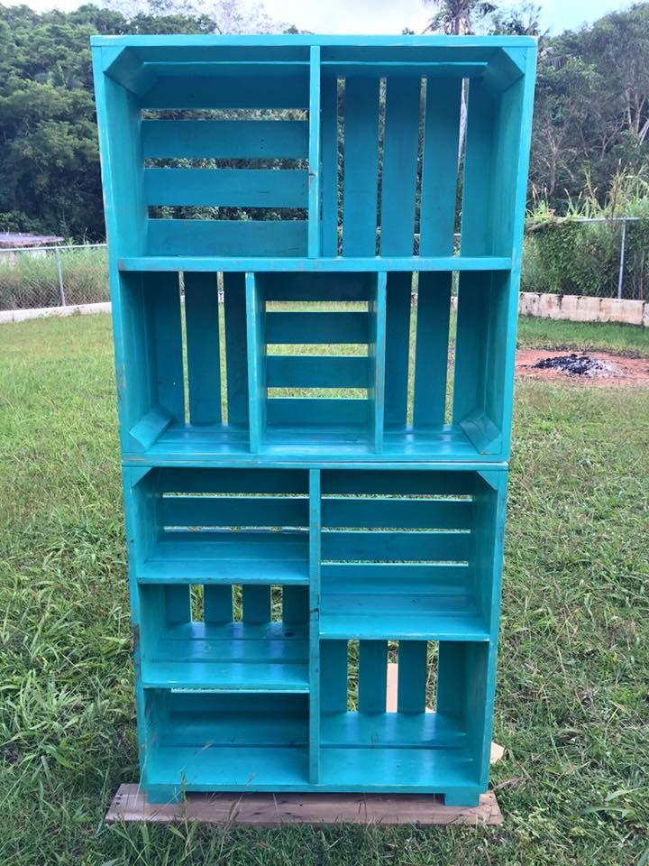Adorable #Pallets Wood Crate Shelves   Pallet Furniture