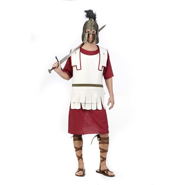 Túnica con capa de soldado romano para hombre