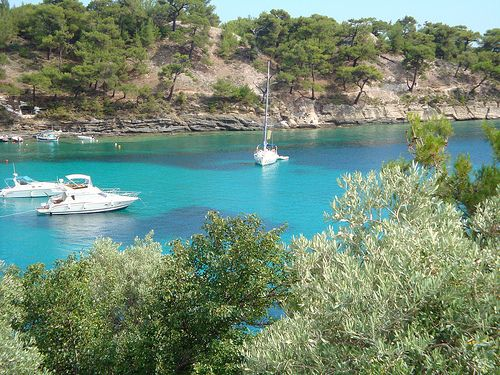 Psili Ammos Beach Thassos Island Greece