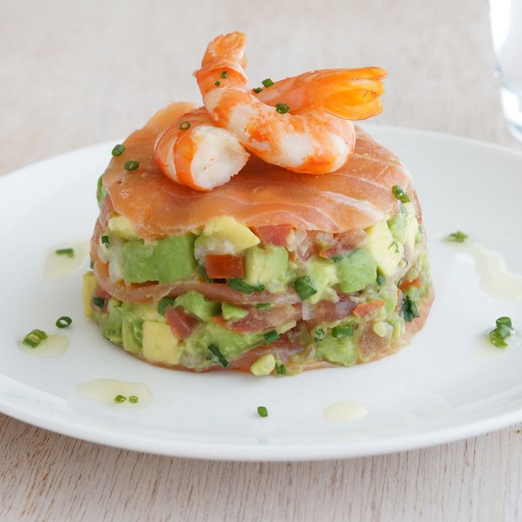 Kaye's Smoked Salmon with Avocado Salsa and Prawns is perfect for a make-ahead Christmas lunch.