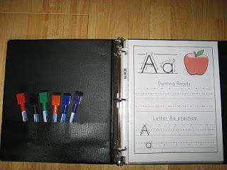 The Preschool Experiment: Week 5 Review - this notebook idea is perfect for the weekends, because S wants to do school 7 days a week, and Mommy is pooping out at 4!