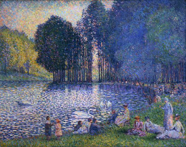 The Lake of the Forest of Boulogne by Henri Edmond Cross