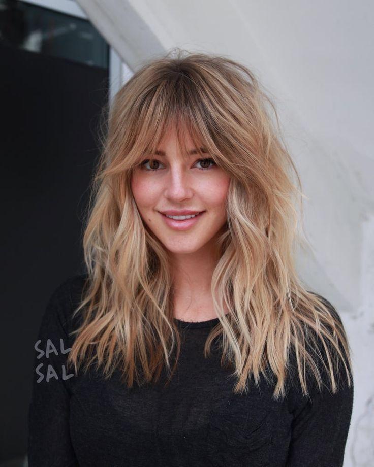 Babe Bangs / Bardot Hair | Long hair with bangs, Long shag haircut, Long layered haircuts