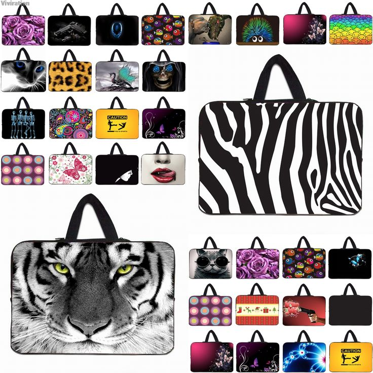 Capa Para Notebook 12 10 13 14 15 17 Inch Laptop Sleeve Bag Neoprene Handle Carry Cases Pouch Protector Wholesale Retails #Affiliate