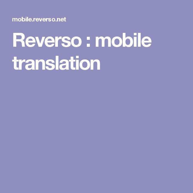 Reverso : mobile translation