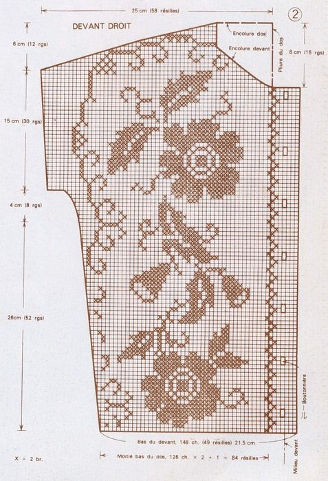vintage filet top pattern 2